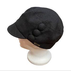 Delux Black Linen/Cotton Hat